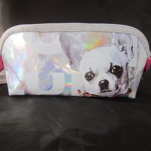 NWT Fuzzy Nation Chihuahua Cosmetic Makeup Case
